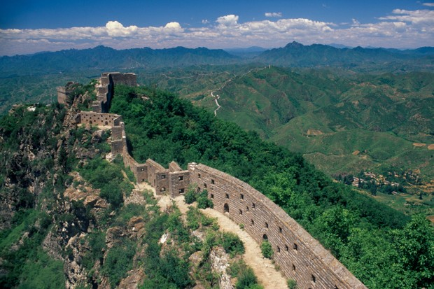 Thin section of the Great wall near Beijing